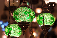 Traditional handmade oriental lamps Royalty Free Stock Image