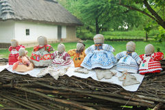Traditional Handmade rag dolls Royalty Free Stock Photo