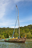 Traditional handmade sail boat in the amazon of Brazil. Stock Images