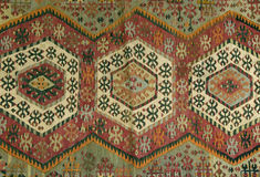 Traditional handmade Turkish Carpet Royalty Free Stock Images