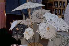 Traditional handmade umbrella  for sale in Burano Royalty Free Stock Photography