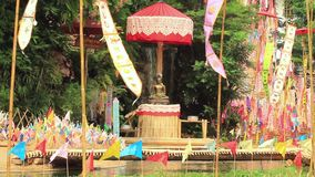 Traditional hanging flag at the temple
