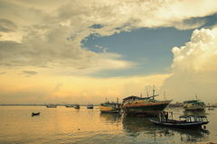 Traditional Harbour. Traditional harbor in Madura across Surabaya, the capital of East Java, Indonesia royalty free stock image