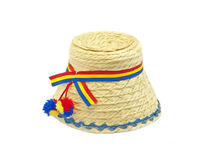 Traditional Hat. Small traditional with romanian flag on it Stock Images