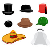 Traditional hat set Royalty Free Stock Images