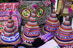 Traditional Hats In Chiang Mai Royalty Free Stock Photo
