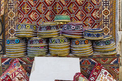 Traditional hats with hand-embroidered Azerbaijan. Art Stock Images