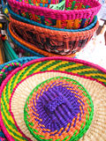 Traditional hats, Market of Santiago de Chile Stock Photo