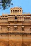 Traditional haveli inside old town walls, Jaisalmer, India Stock Photo