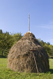 Traditional haystack rural scene Royalty Free Stock Photography