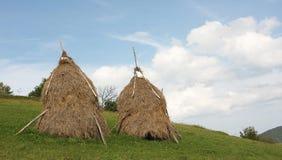 Traditional haystacks royalty free stock photography