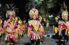 Traditional headdresses, Yogyakarta city festival Stock Photos