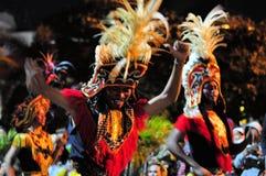 Traditional headdresses, Yogyakarta city festival. Yogyakarta, Indonesia - 7 October 2014:  258th city anniversary - People are wearing traditional headdresses Stock Photography