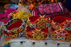 Traditional headgear in Malaysia on the market. Sarawak. Traditional headgear in Malaysia on the market Sarawak Royalty Free Stock Photos