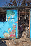 Traditional healer house in the township of Khayelitsha Stock Photo
