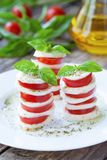 Traditional healthy sliced tomatoes with Stock Photo