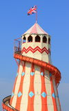 Traditional helter skelter fairground ride Royalty Free Stock Images
