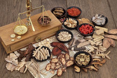 Traditional Herbal Medicine Stock Photo