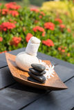 Traditional Herbal Spa Massage Stock Images