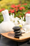 Traditional herbal spa massage Royalty Free Stock Photography