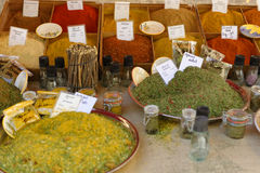 Traditional herbs market in Provence Stock Images
