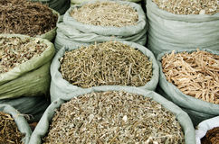 Traditional herbs in vietnam market Royalty Free Stock Images