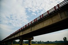 A traditional highway bridge unique photo. A traditional highway bridge with blue sky background unique photo royalty free stock photos