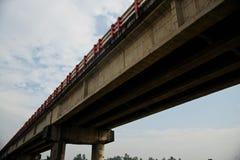 A traditional highway bridge unique photo. A traditional highway bridge with blue sky background unique photo stock image