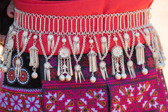 Traditional Hill Tribe Silver ornaments. Royalty Free Stock Photos
