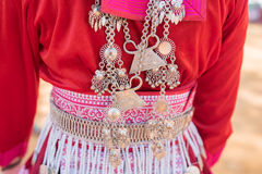 Traditional Hill Tribe Silver ornaments. Traditional Hill Tribe Silver ornaments stock photography