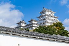 Traditional Himeiji castle. Beautiful landscape at outdoor Stock Images