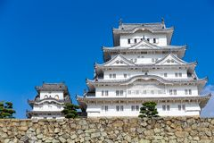 Traditional Himeiji Castle. Beautiful scenery landscape at outdoor Stock Photo