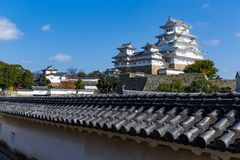 Traditional Himeiji Castle in Japan. Beautiful scenery landscape at outdoor Stock Image