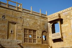 Traditional hindu architecture of Jaisalmer fort,India royalty free stock image