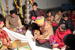 Traditional Hindu Indian wedding Royalty Free Stock Photography