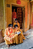 Traditional Hindu students Royalty Free Stock Images