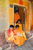 Traditional Hindu students Stock Photography
