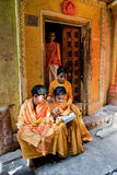 Traditional Hindu students Royalty Free Stock Photo