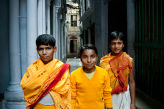 Traditional Hindu students Stock Image