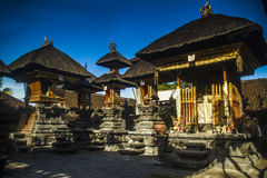 Traditional hindu temple in Bali and blue sky Stock Images