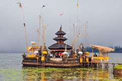 Traditional hindu temple on the lake, Bali. Indonesia royalty free stock images