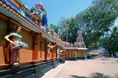 Traditional Hindu temple, South India Royalty Free Stock Photos