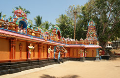 Traditional Hindu temple, South India, Kerala Royalty Free Stock Images