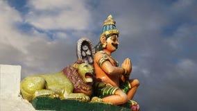 Traditional Hindu temple, South India, Kerala stock footage