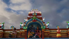 Traditional Hindu temple, South India, Kerala stock video