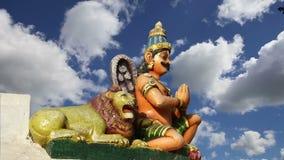 Traditional Hindu temple, South India, Kerala stock video