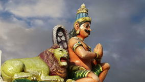 Traditional Hindu temple, South India, Kerala stock video footage