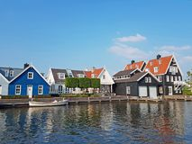 Traditional historical dutch houses in the countryside from the Netherlands Royalty Free Stock Photos