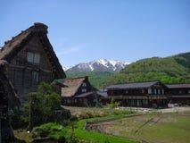 Traditional and Historical Japanese village Gassho-Zukuri house Stock Photography