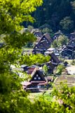 Traditional and Historical Japanese village Ogimachi - Shirakawa-go, Japan Royalty Free Stock Photos